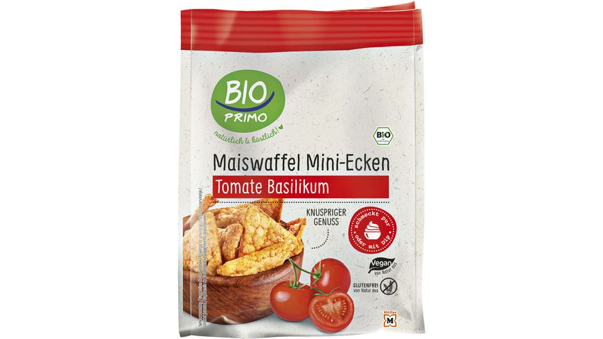 BIO PRIMO Mini Maiswaffeln Tomate Basilikum