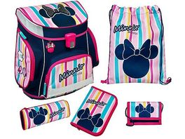 Scooli CAMPUS FIT PRO Schulranzen Set 6teilig Minnie Mouse