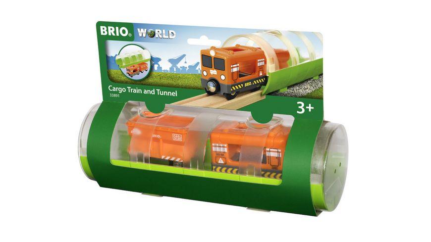 BRIO Bahn Tunnel Box Frachtzug