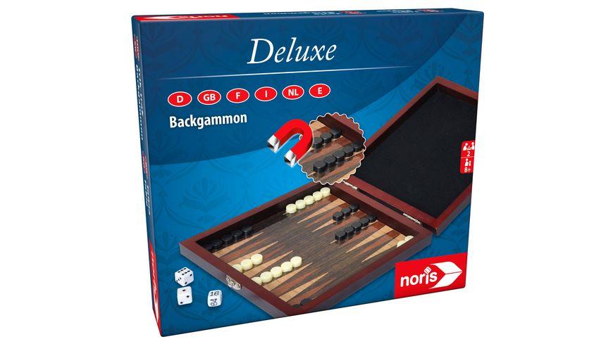 Noris Spiele - Deluxe Reisespiel Backgammon