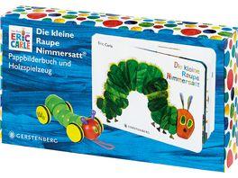 Die kleine Raupe Nimmersatt Geschenkset Pappbilderbuch mit PlanToys Holzraupe