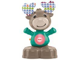 Fisher Price BlinkiLinkis Elch Baby Spielzeug mit Musik Lernspielzeug