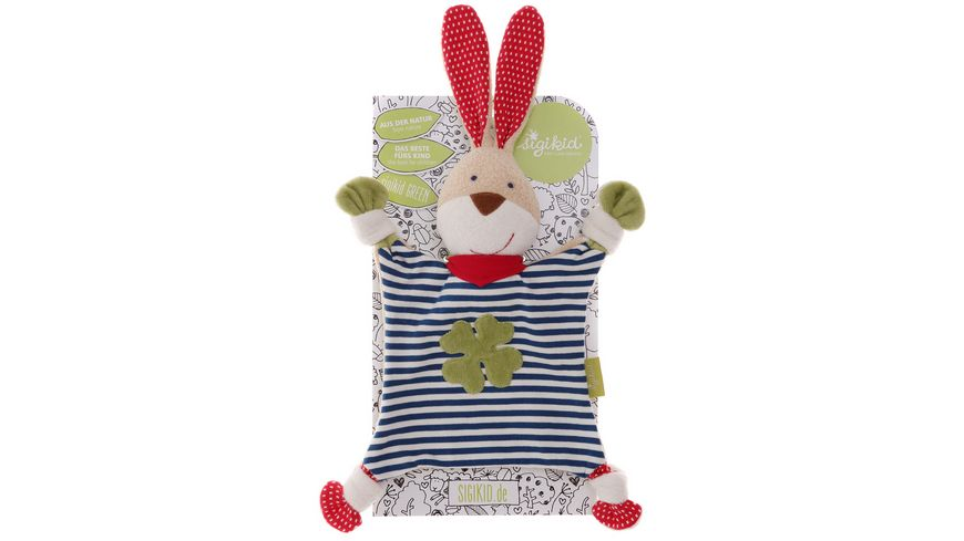 sigikid Schnuffeltuch Hase GREEN Collection