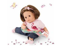 Goetz Cosy Aquini Flamingo Love 33 cm Badepuppe mit braunem Haar und braunen Schlafaugen