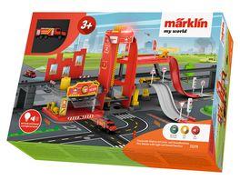 Maerklin 72219 Maerklin my world Feuerwehr Station mit Licht und Soundfunktion