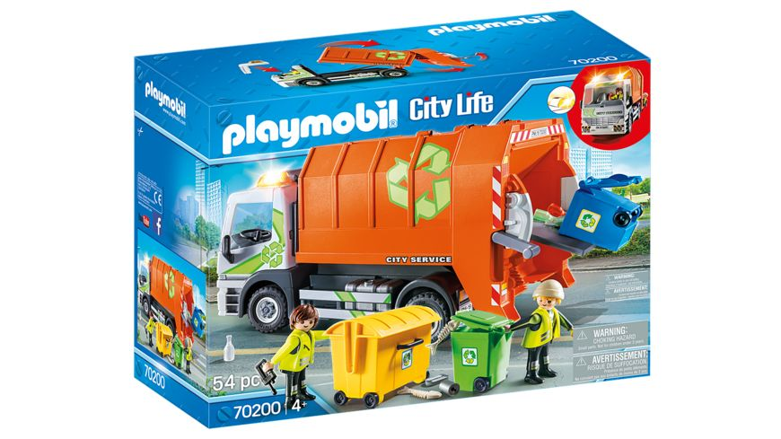 PLAYMOBIL 70200 City Life Muellfahrzeug