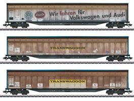 Maerklin 48063 Schiebewandwagen Set Transwaggon