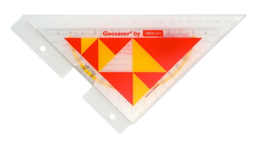 ARISTO Geometrie Dreieck mit Ordnerleiste 16cm