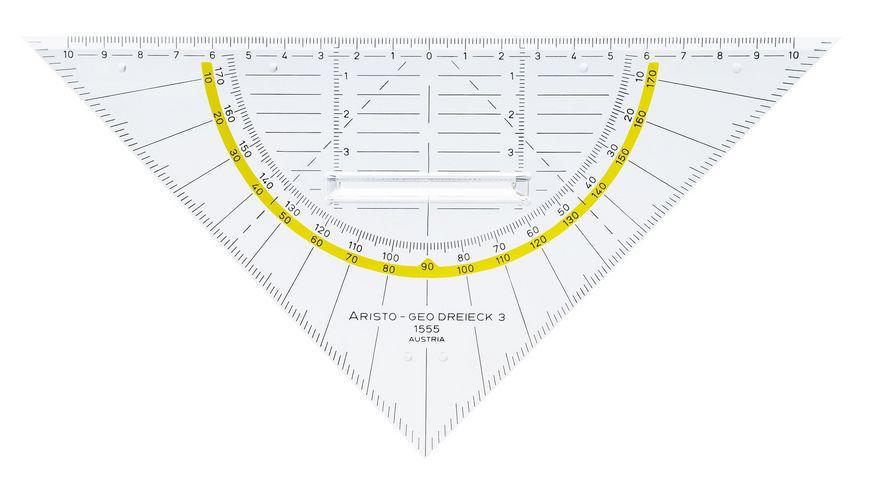 ARISTO Geometrie Dreieck mit Griff 22 5cm