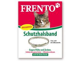 Frento Schutzhalsband fuer Katzen Weiss