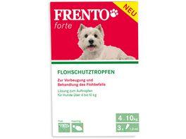 Frento Floh und Zeckentropfen fuer kleine Hunde