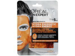 L OREAL PARIS MEN EXPERT Hydra Energy Taurin Tuchmaske