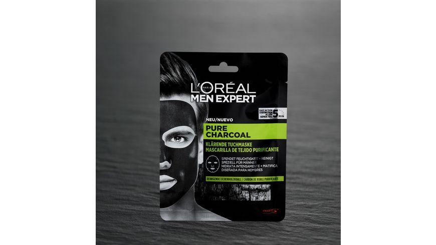 L OREAL PARIS MEN EXPERT Pure Charcoal Reinigende Tuchmaske