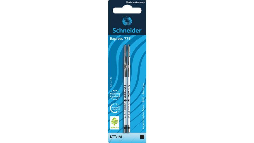 Schneider Kugelschreibermine 775 M 2 Stück schwarz