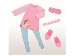 Mueller Toy Place Modern Girl Outfit Schlafset ohne Puppe Groesse 45 cm