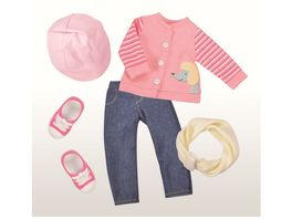 Mueller Toy Place Modern Girl Outfit College ohne Puppe Groesse 45 cm