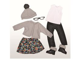 Mueller Toy Place Modern Girl Outfit Black Grey ohne Puppe Groesse 45 cm