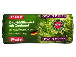 Pely Oeko Muellbeutel mit Zugband 35 Liter