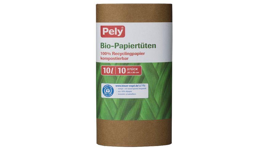 Pely® Bio-Papiertüten 10 Liter