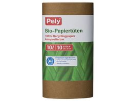 Pely Bio Papiertueten 10 Liter