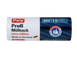 Pely Profi Muellsack mit Verschlussband 60 Liter