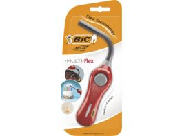 BIC Megalighter Flex Multifunktionsfeuerzeug Rot 1er Pack