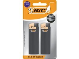 BIC Maxi Electronic Feuerzeuge Schwarz 2er Pack