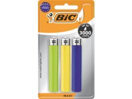 BIC Maxi Reibradfeuerzeuge Verschiedene Farben 3er Pack