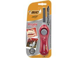 BIC Megalighter Happy Multifunktionsfeuerzeuge Rot 1er Pack