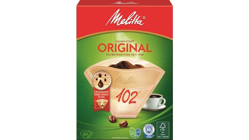 Melitta® Filtertüten® 102/80 naturbraun Aroma