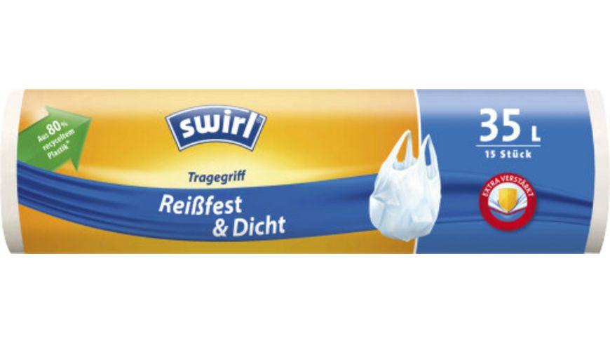 swirl® Tragegriff-Müllbeutel Reißfest & Dicht 35L