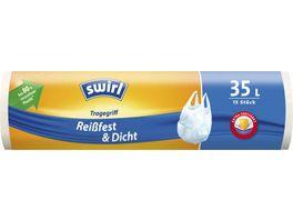 swirl Tragegriff Muellbeutel Reissfest Dicht 35L