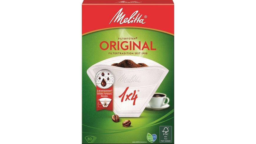 Melitta® Filtertüten® 1x4/80  weiß Aroma
