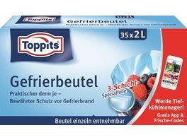 Toppits Gefrierbeutel Standboden 2L