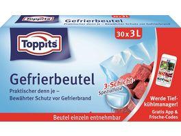Toppits Gefrierbeutel Standboden 3L