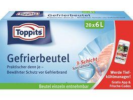 Toppits Gefrierbeutel Standboden 6L