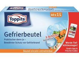 Toppits Gefrierbeutel Standboden 1L