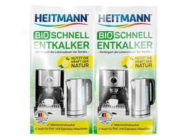 HEITMANN Bio Schnell Entkalker Doppelpack