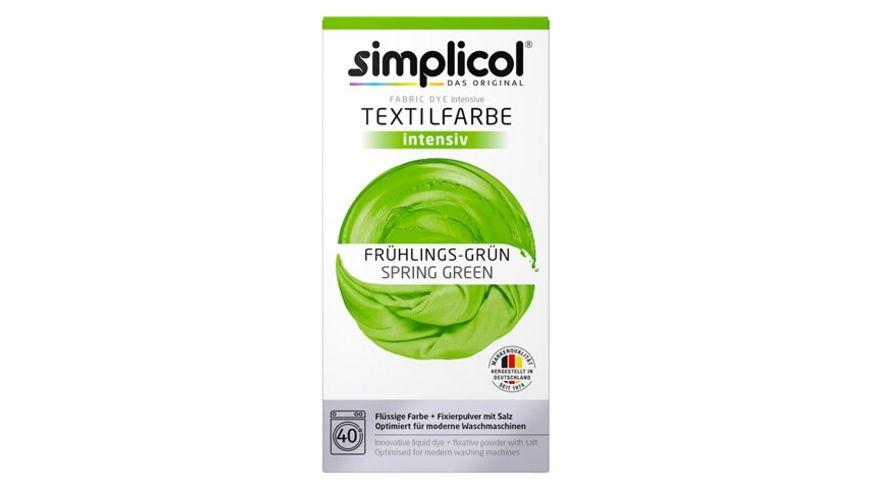 simplicol Textilfarbe intensiv Fruehlings Gruen