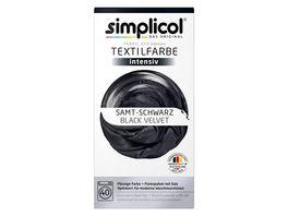 simplicol Textilfarbe intensiv Samt Schwarz