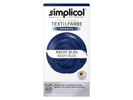 simplicol Textilfarbe intensiv Nacht Blau