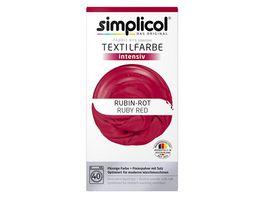 simplicol Textilfarbe intensiv Rubin Rot