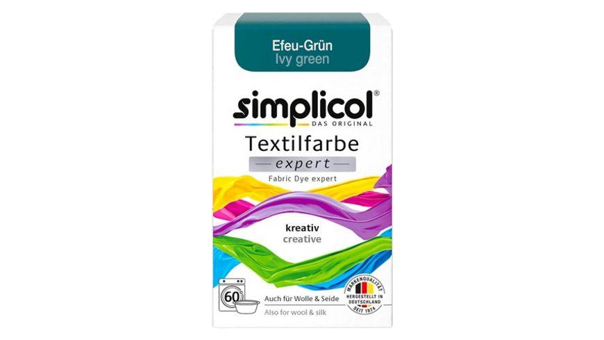 simplicol Textilfarbe expert Efeu-Grün