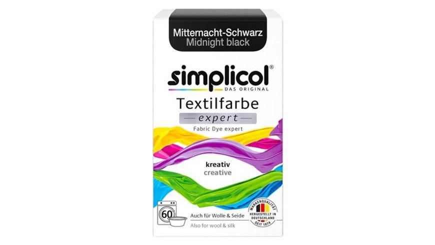 simplicol Textilfarbe expert Mitternacht Schwarz