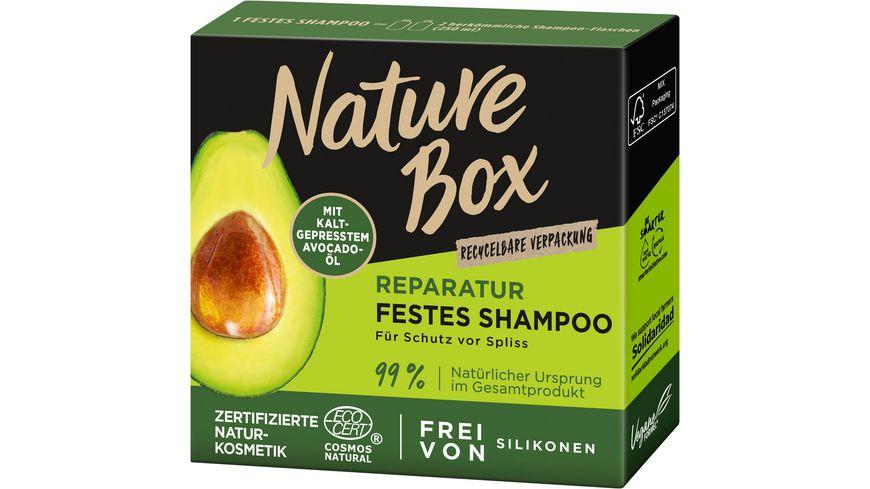 NATURE BOX Reparatur Festes Shampoo Avocado-Öl