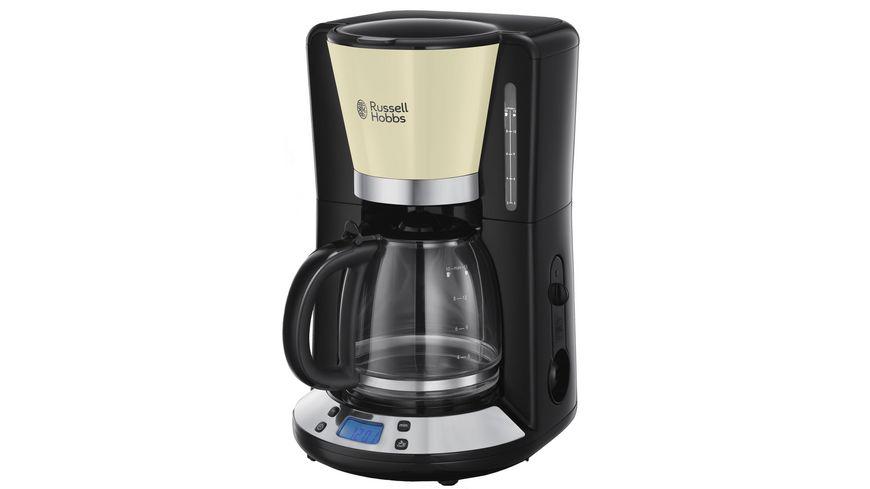 Russell Hobbs Colours Plus+ Classic Cream Digitale Glas-Kaffeemaschine 24033-56