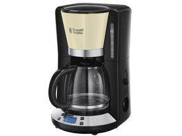 Russell Hobbs Colours Plus Classic Cream Digitale Glas Kaffeemaschine 24033 56