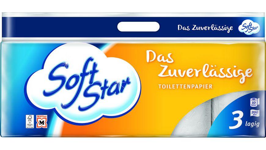 Softstar Toilettenpapier 3 lagig
