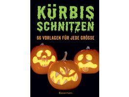 Kuerbis schnitzen 66 Anleitungen und Vorlagen fuer gruselige oder lustige Halloween Gesichter