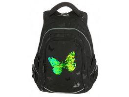 WALKER FAME Rucksack Sparkling Butterfly Black